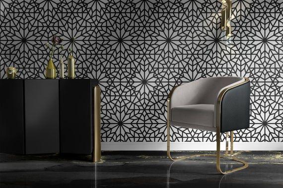 Geometric Wallpaper Removable Wallpaper Modern Wallpaper Etsy In 2020 Modern Wallpaper Geometric Wallpaper Self Adhesive Wallpaper