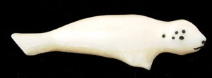 Alaska : Eskimo : Seal, carved from old walrus tusk. Acquired form an old collection. Di29  Attributed to Payenna