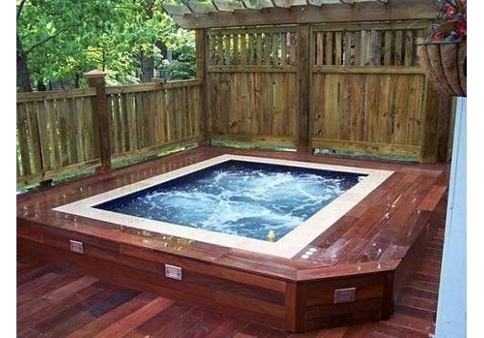 Hot tub design home and garden design idea 39 s spa hot for Hot tub landscape design