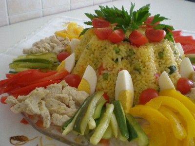 Timballo di riso, con pollo e verdure bimby