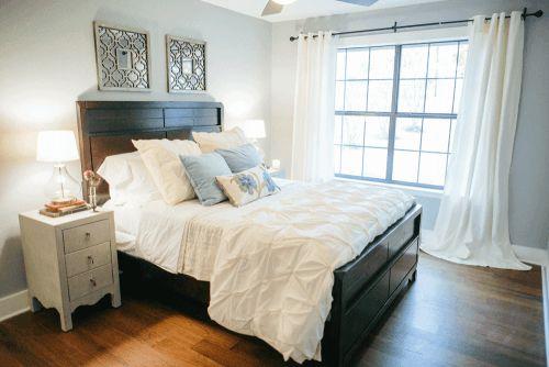 Master Bedroom In Gray Matter Magnolia Homes Joanna
