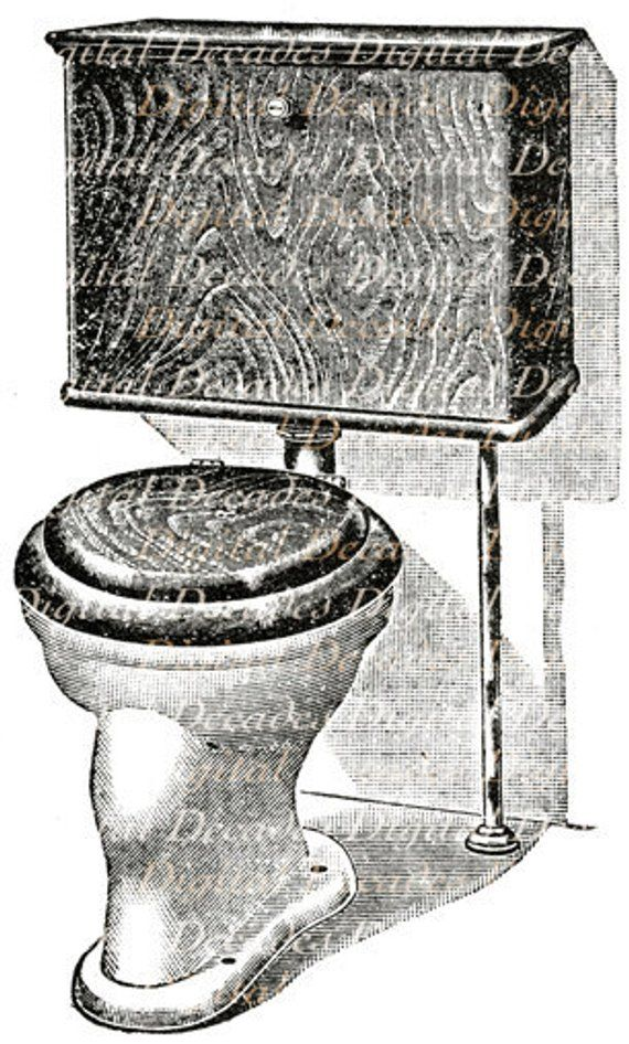 Bathroom Water Closet Potty Loo Toilet Restroom Plumbing Etsy In 2021 Water Closet Toilet Illustration Victorian Toilet