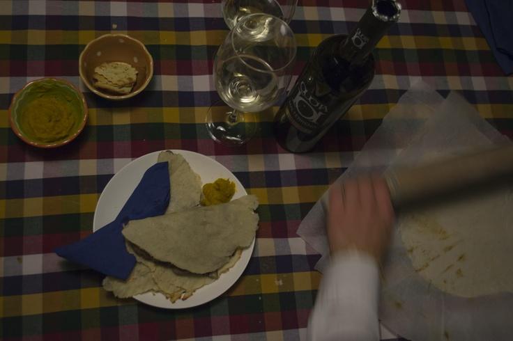 Tacos radici e fasioi