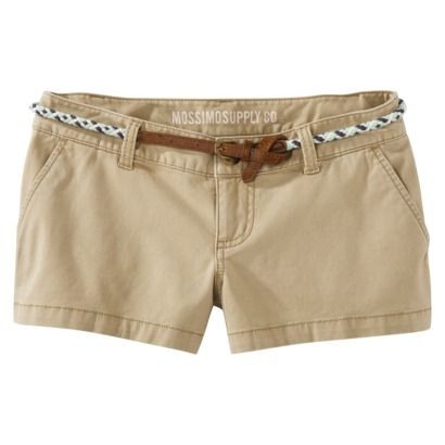 $19.99 Mossimo Supply Co. for Target Juniors Shorts with Belt - Bonjour Brown