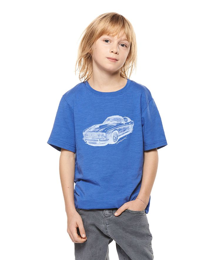 Bright Cobalt Car Tee - Boys