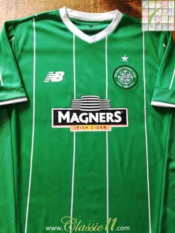 Official New Balance Celtic away football shirt from the 2015/16 season.