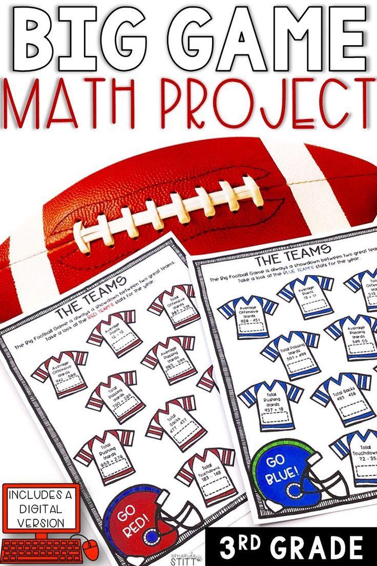 Digital Super Bowl Math Football Math Activity 3rd Grade Math Projects Football Math Activities Math [ 1104 x 736 Pixel ]