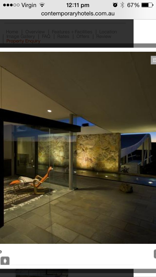 Water feature Fire & water - Siedler house Bowral