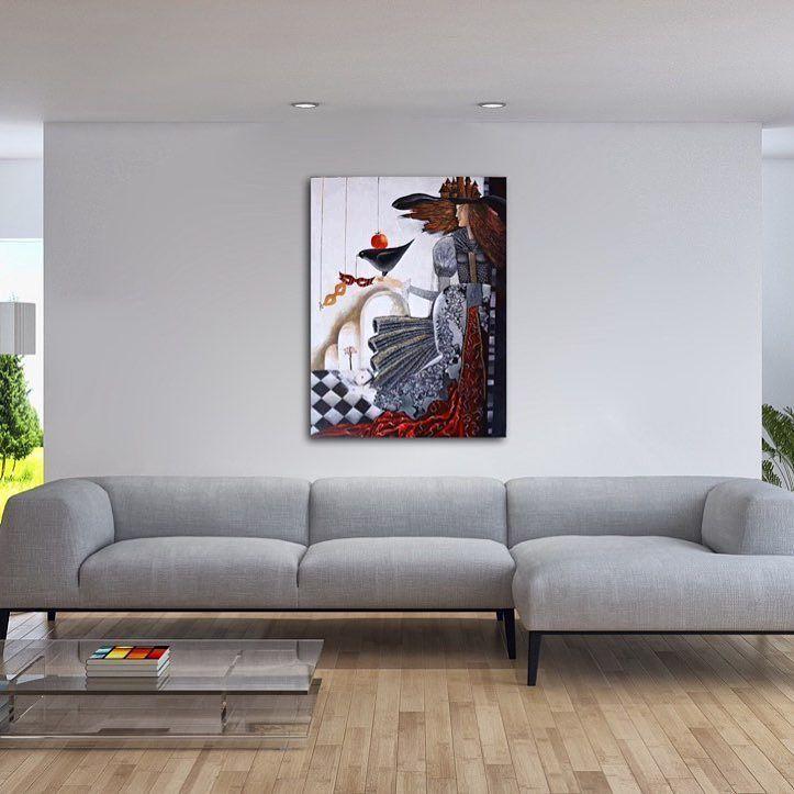 'Carnival' original  #painting by #Yelena - http://ift.tt/2aBU8u2 --- #art #propertstyling #interiorstyling #decorative #interiodesign #bondi #sydney #melbourne #figure #perth #canberra #livingroom #modernart #gallery #hospitality #illustration #carnival #surrealism #brisbane #abstractart #artista  #artforsale
