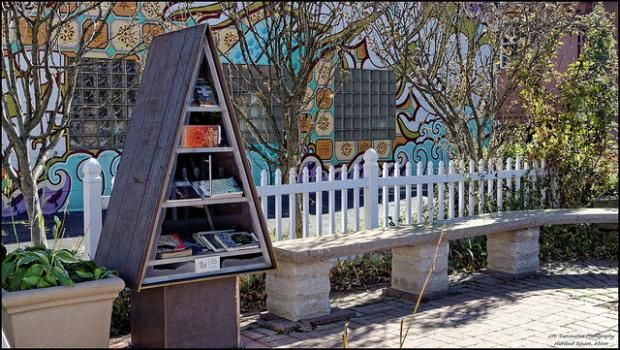 Little free libraries have sprung up all over the world in the last five years.