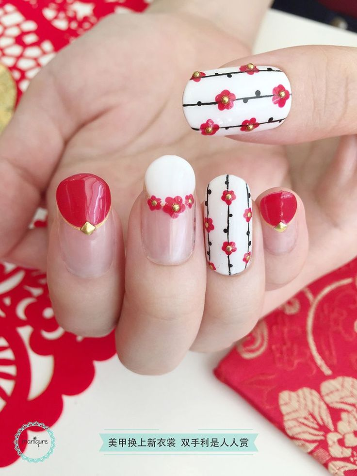Chinese New Year Nail Art CNY Manicure New years nail