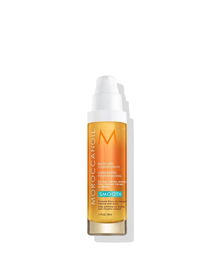 Specifically formulated for very rebellious, highly unmanageable hair, Moroccanoil® Blow-dry Concentrate provides intense frizz control and facilitates easier blowouts. Creates a polished, ultra-smooth look with increased softness, shine and silkiness. Infused with conditioning argan oil and natural antioxidants to help protect hair, Moroccanoil Blow-dry Concentrate delivers ultimate frizz control and a smooth blowout every time.