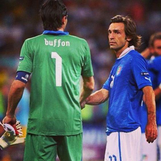 Gigi Buffon and Andrea Pirlo  Italy national football team