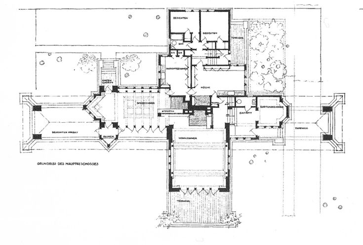 Ward willits house frank lloyd wright pinterest Frank lloyd wright floor plan