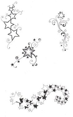 sketches of stars and hearts   Star designs by ~crazyeyedbuffalo on deviantART