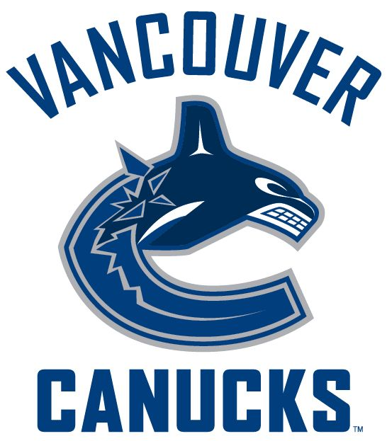 Vancouver Canucks Alternate Logo (2008) - A navy blue whale jumping out of the ice shaped like a 'C' with team name