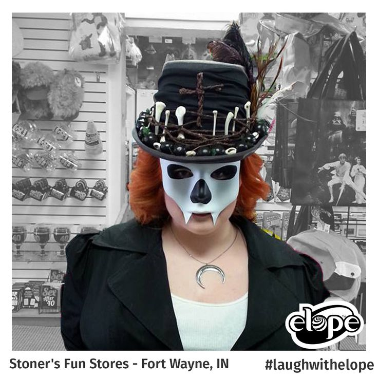 """""""Baron Samedi"""" by Simone Mullin-LeClear Stoner's Funstore - Fort Wayne, IN  Vote for this hat: http://woobox.com/27q2tb"""