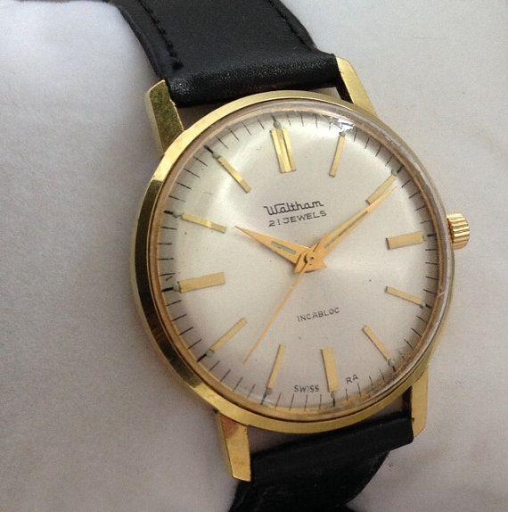 Excellent Vintage Waltham Watch 1960s Waltham Mechanical