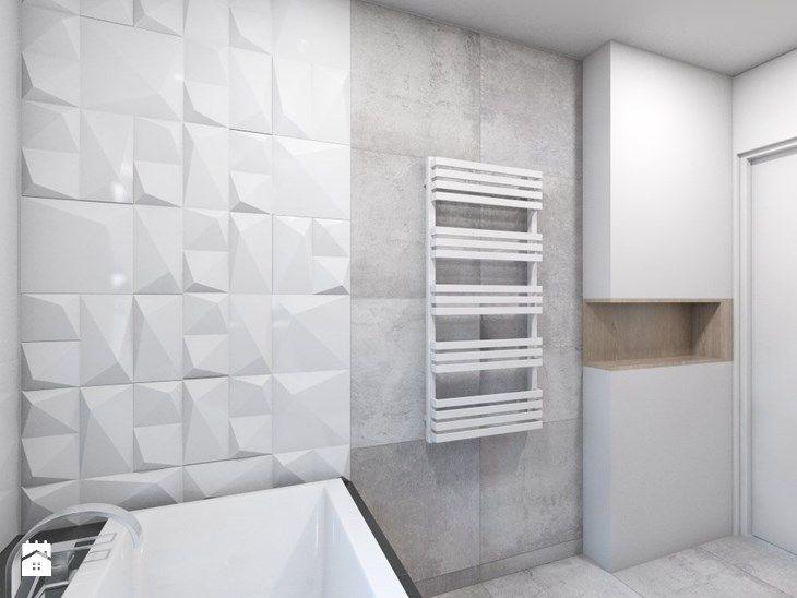 (Dom w okolicy Lublińca) Dom jednorodzinny 7 - Średnia łazienka, styl nowoczesny - zdjęcie od BAGUA Pracownia Architektury Wnętrz