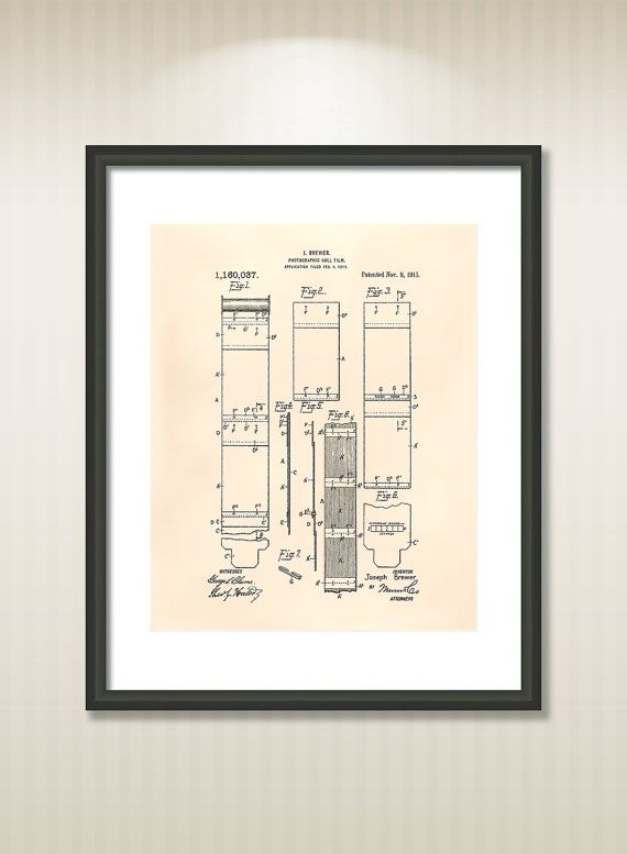 This reproduction was digitally restored and in some cases altered to remove defects or unwanted artifacts present in the original #patent document.  Buy more and save! B... #patentart #art #print #gift #digital #download #instant #wall #printable #drawings #camera #photographer