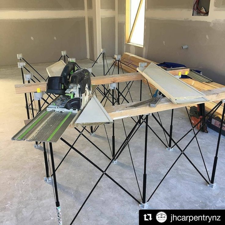 The 4'x8' #CentipedeSupportXL provides a huge, yet #portable #jobsite #workspace and #tracksaw #stand. Repost via @jhcarpentrynz:    #centipedetool  ・・・  (@get_repost)  #CentipedeSupport #mobile #workshop #workbench #temporary #woodshop #worktable #sawhorse #carpentry #joinery #woodworking #chippy #contractor #construction #renovation #remodel #interiordesign #remodeling #carpenter #festool #trades #toolsofthetrade #tools