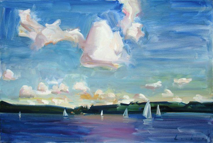 Kenneth Lochhead Free Sail 2002 oil on canvas 24 x 36 in.   $12000