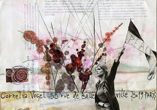 © Christine LE ROY http://www.christine-le-roy.com #mailart #peace