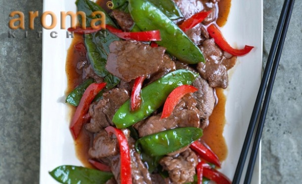 Sweet beef stir-fry with ginger and plum sauce | Aceline Entertainment