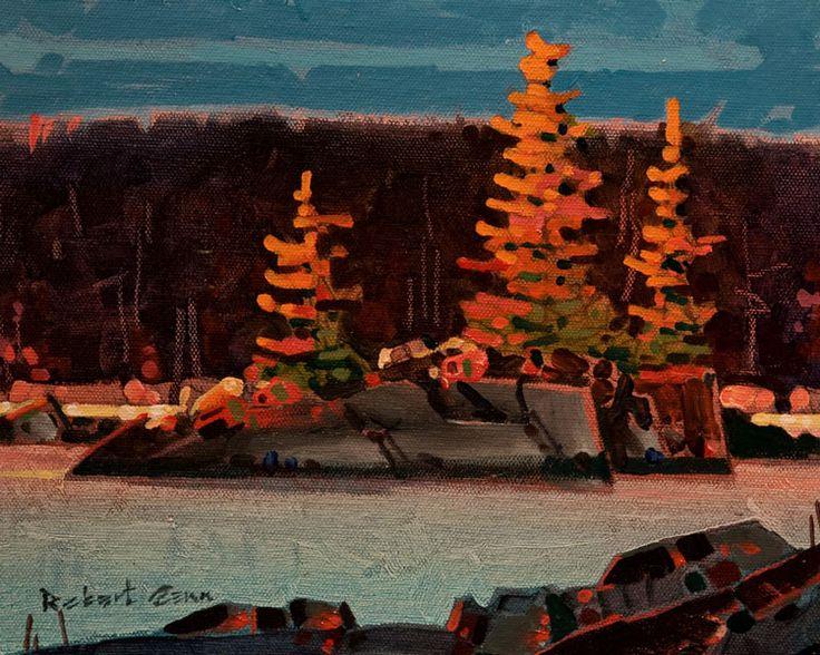 Late Light, Islet (Grenville Channel), by Robert Genn 8x10 acrylic