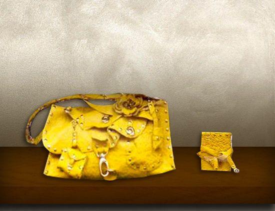 Borsa pelle gialla2