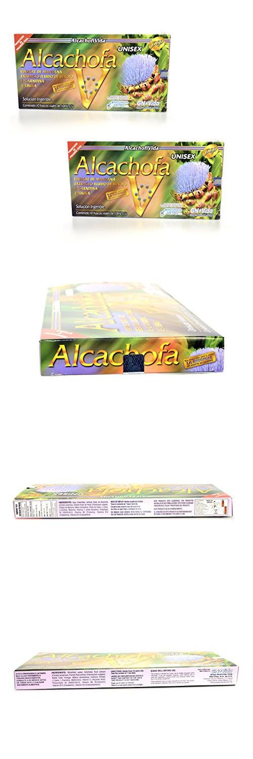 2 Pack Ampolletas De Alcachofa Gn+vida 10 Ampolletas Bebibles En La Caja -Artichoke Vials the Original Artichoke Diet Gn+vida Dietary Supplement 10 Vials Original From Mxico Weight Loss