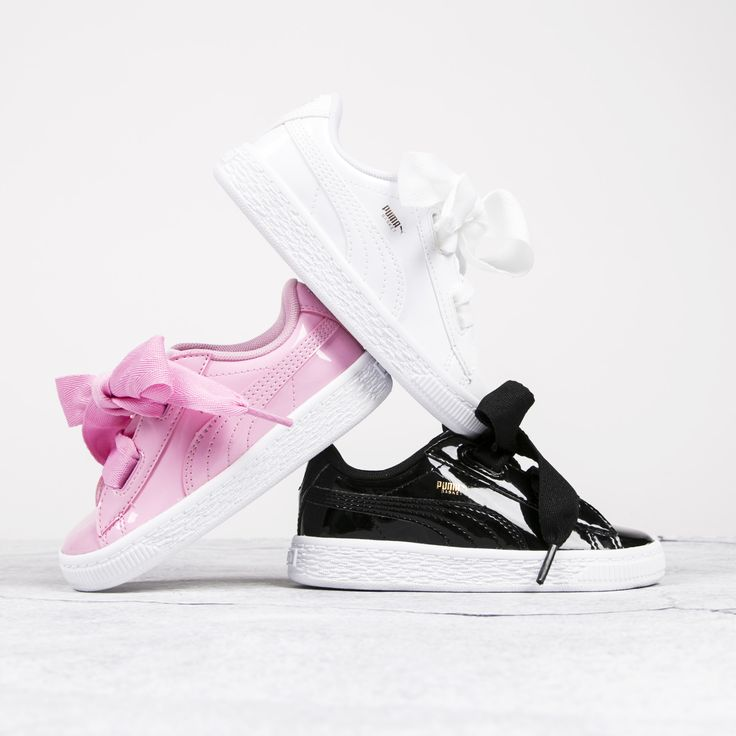 Puma Basket Heart Patent Rose