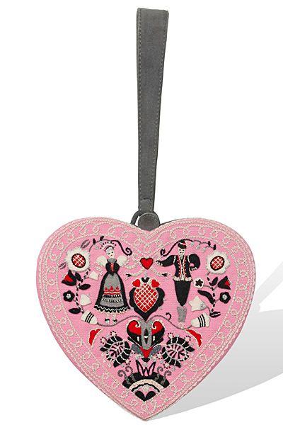 Pink Heart bag at Olympia Le Tan