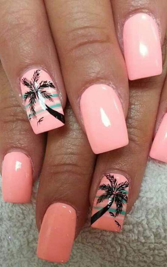 Nail Design Ideas blue nail design quinceanera ideas nail designs nail art design ombre nail 50 Tropical Nail Art Designs For Summer Nail Design Nail Art Nail Salon