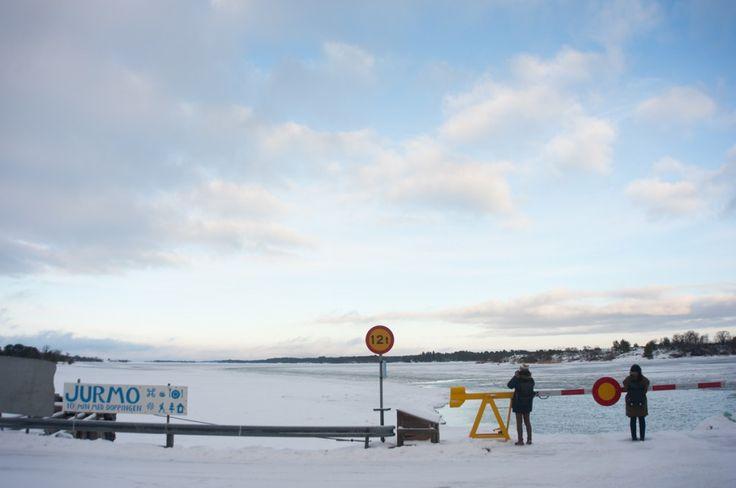 Séjour hivernal dans les îles Åland en Finlande (Detour Local) -> En direction de Jurmo au bout du bout des îles Aland www.detourlocal.com/sejour-hivernal-iles-aland-finlande/