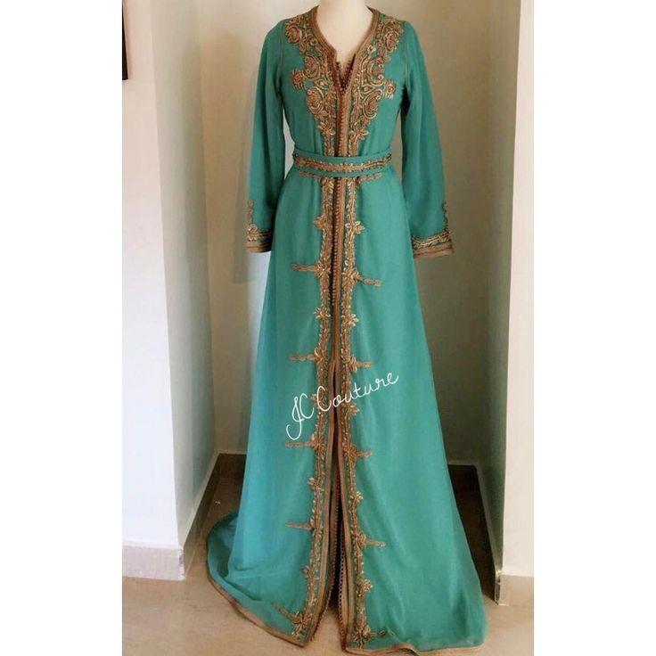 JC.Couture : • Caftan en mousseline de soie entièrement travaillé à la main (broderie & perlage)  ------------------------------------ #Traditionelle #creations #modern #unique #luxury #Beautiful #Fashion #Glamour #Handmade #Morocco #Doha #casablanca #london #saudia #bahrain #paris #marrakech #agadir #rabat #mousseline #trendy #imprimée #Mejdoule #perlage #creations #creatrice #Beldi #Rbati #Broderie #Ramadan #2017