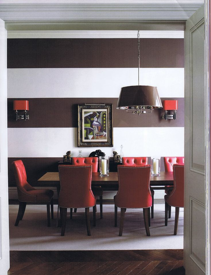 20 Colors That Jive Well With Red Rooms. Brown Dining ...