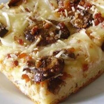 Deep Dish Alfredo Pizza | Pizza | Pinterest