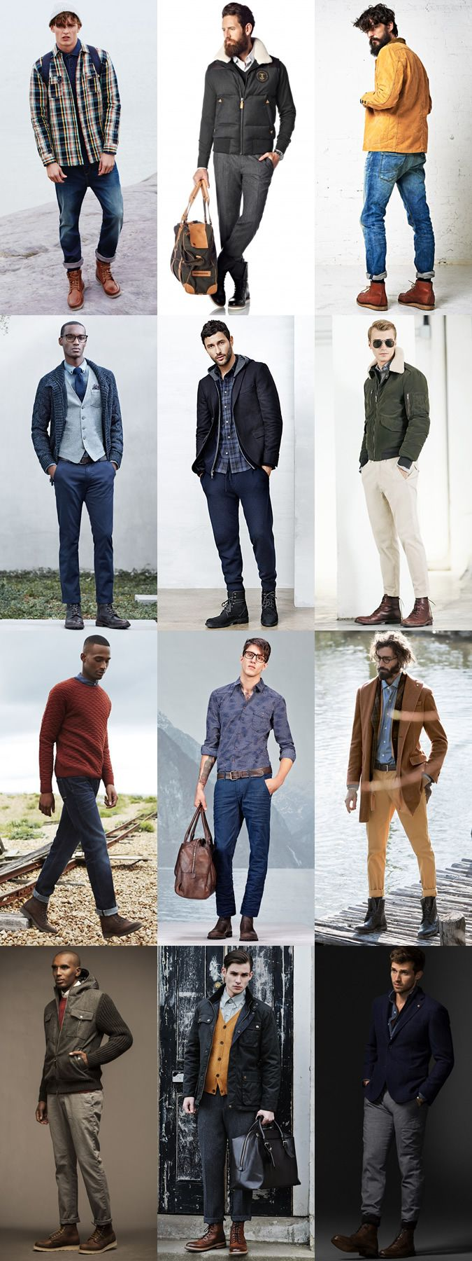Men's Rugged Boots - Transitional Season Outfit Inspiration Lookbook