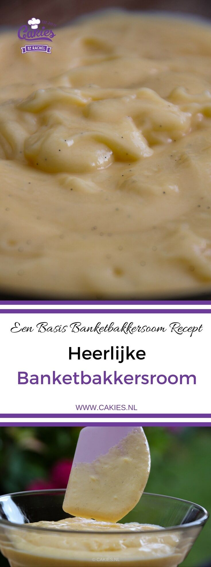 Banketbakkersroom is een heerlijke custard of pudding die vaak wordt gebruikt in bakkerijen en restaurants. Banketbakkersroom is makkelijk zelf te maken. Basis Banketbakkersroom Recept.