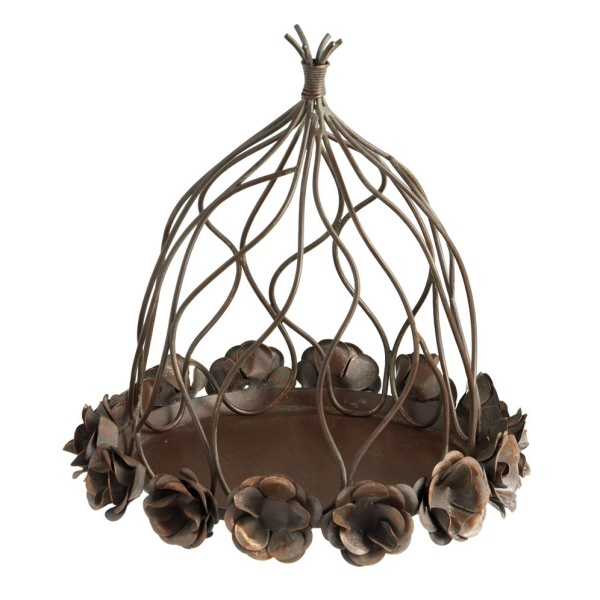Rose Plate with Iron Metal Cloche available at www.country-villa-decor.com Find it in our Tuscan Accents inspiration room. $60
