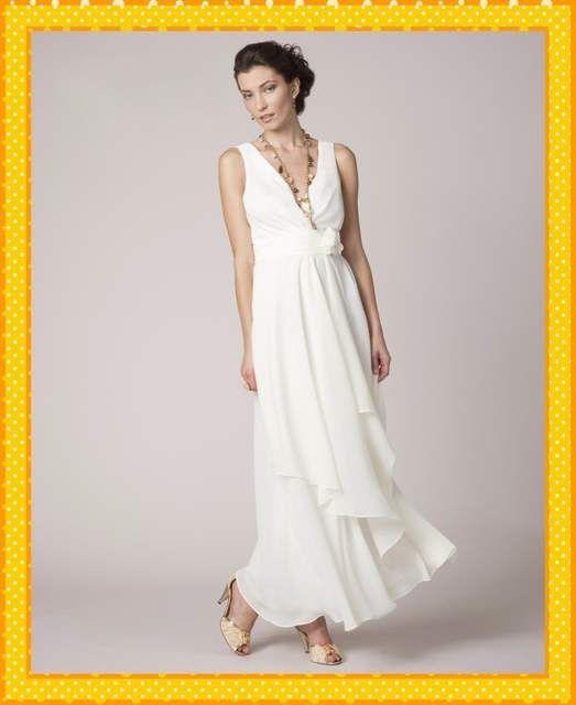 ec1e4f8d982 Online Shop Sexy V Neck Long White Chiffon Plus Size Mother Of The Bride  Dresses 2017