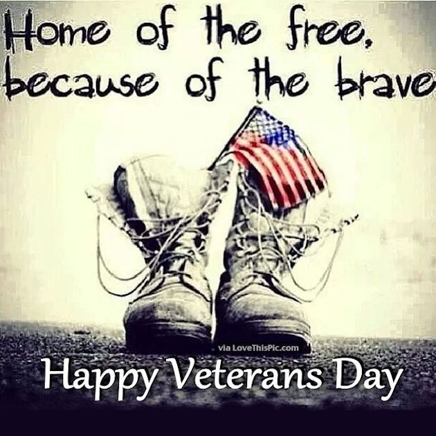Home Of The Free Because Of The Brave Happy Veterans Day