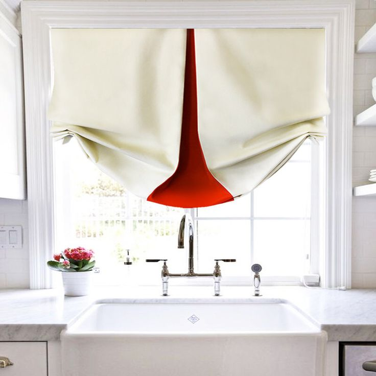 Scandinavian Roman Shade Red Off White Cream Modern Simple Design by CLASSICandMODERNinc on Etsy https://www.etsy.com/listing/250833046/scandinavian-roman-shade-red-off-white