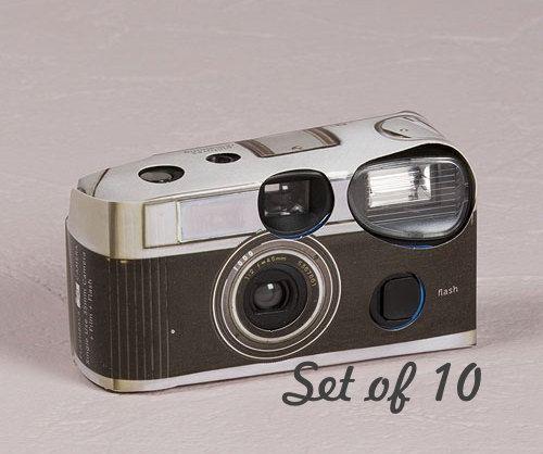 10 Disposable Cameras - Wedding Favor - Vintage Design Camera - Wedding - Retro - Photo Booth - Party - Single Use - Romance - Set of 10