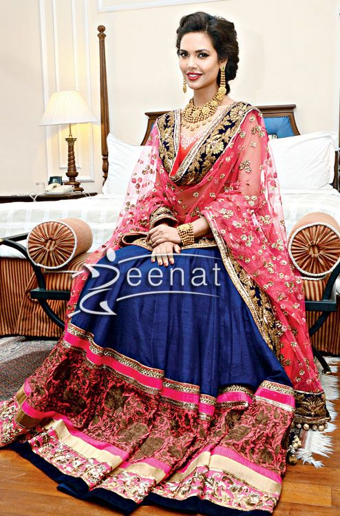 Esha Gupta In Manish Malhotra's Bridal Lehenga