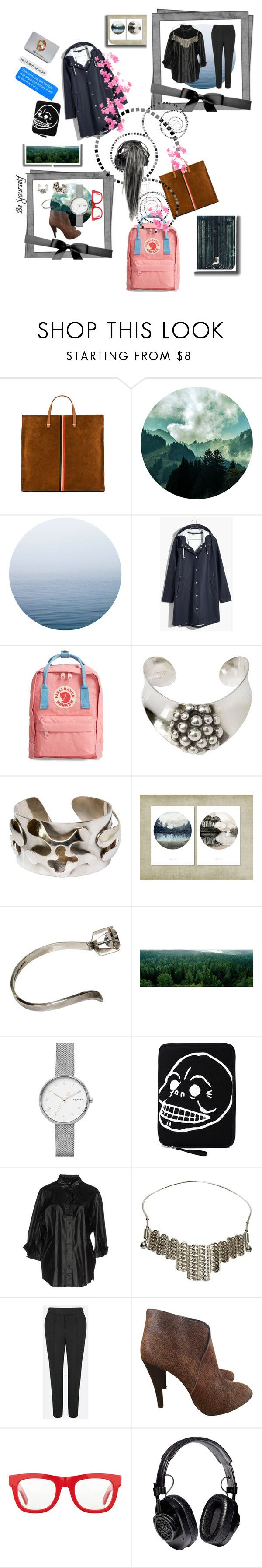 """""""🖤🖤🖤🖤Midweek Minimalist aesthetic with flowers🌸and pink💓"""" by maijah ❤ liked on Polyvore featuring Clare V., Madewell, Fjällräven, Skagen, Cheap Monday, Filippa K, RetroSuperFuture, Proenza Schouler, Pink and flower"""