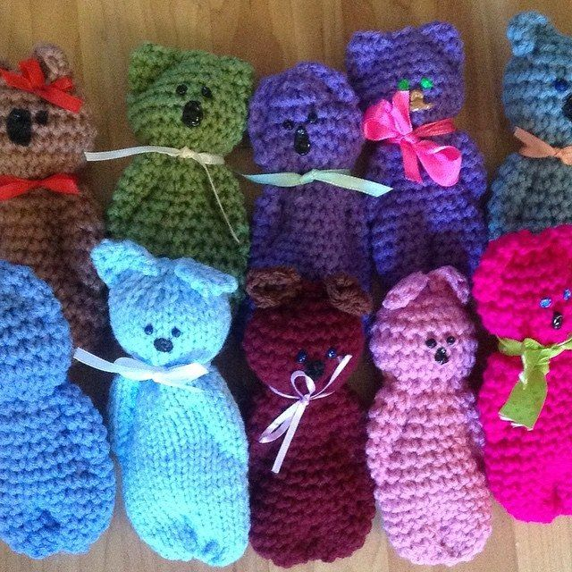 quick knitted bear directions (crochet too)