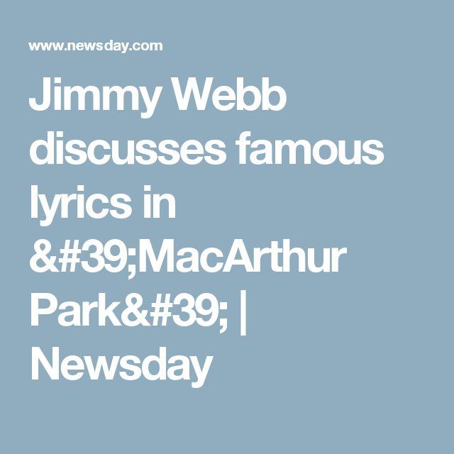 Jimmy Webb discusses famous lyrics in 'MacArthur Park' | Newsday