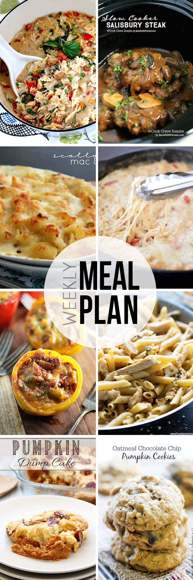 Easy Meal Plan Sunday #15 - Here are six fantastic main dishes and two delicious dessert recipes that your family will love!